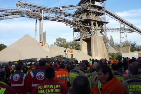"""Katastrophenschutzübung """"Rheinflut 2012"""" des Regierungspräsidiums Karlsruhe"""