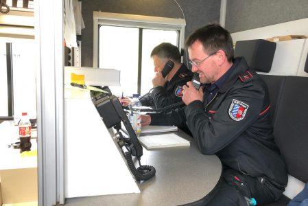 Pilotübung des Katastrophenschutzes mit der  Notfallstation in Wiesloch